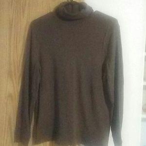 Brown turtleneck shirt